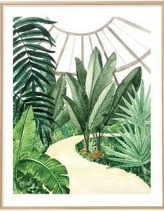Circle Tropical Conservatory Art Print