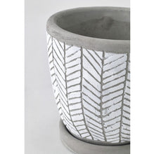 Load image into Gallery viewer, Herringbone White Ceramic Planter