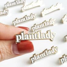Load image into Gallery viewer, Plant Lady Enamel Pin