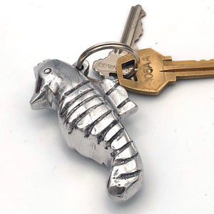 Recycled Aluminum Seahorse Keychain