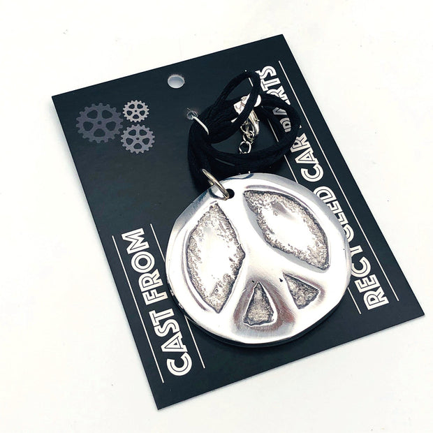 Recycled Aluminum Peace Necklace 1