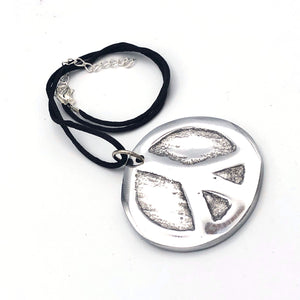 Recycled Aluminum Peace Necklace