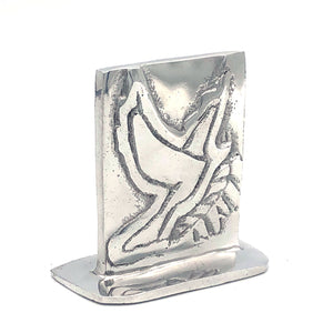 Recycled Aluminum Small Peace Dove with base