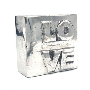 Recycled Aluminum LOVE Block