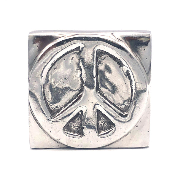 Recycled Aluminum Peace Sign Block