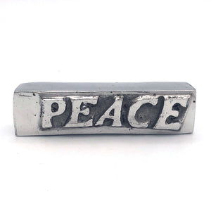 "Recycled Aluminum PEACE 3.5"" Bar"