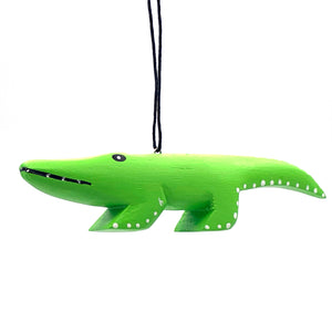 Alligator Balsa Ornament
