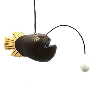 Angler Fish Balsa Ornament