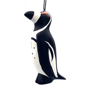 African Penguin Balsa Ornament