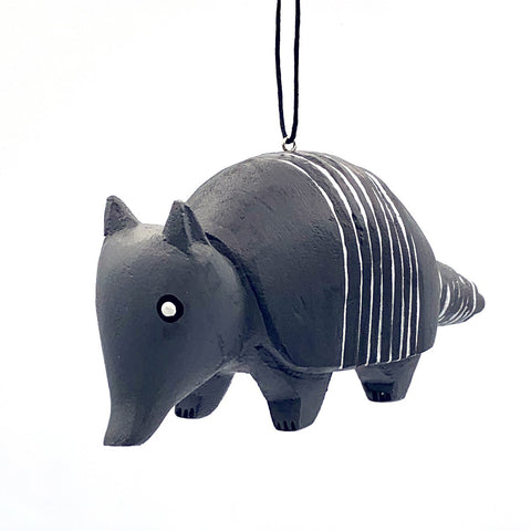 Armadillo Balsa Ornament