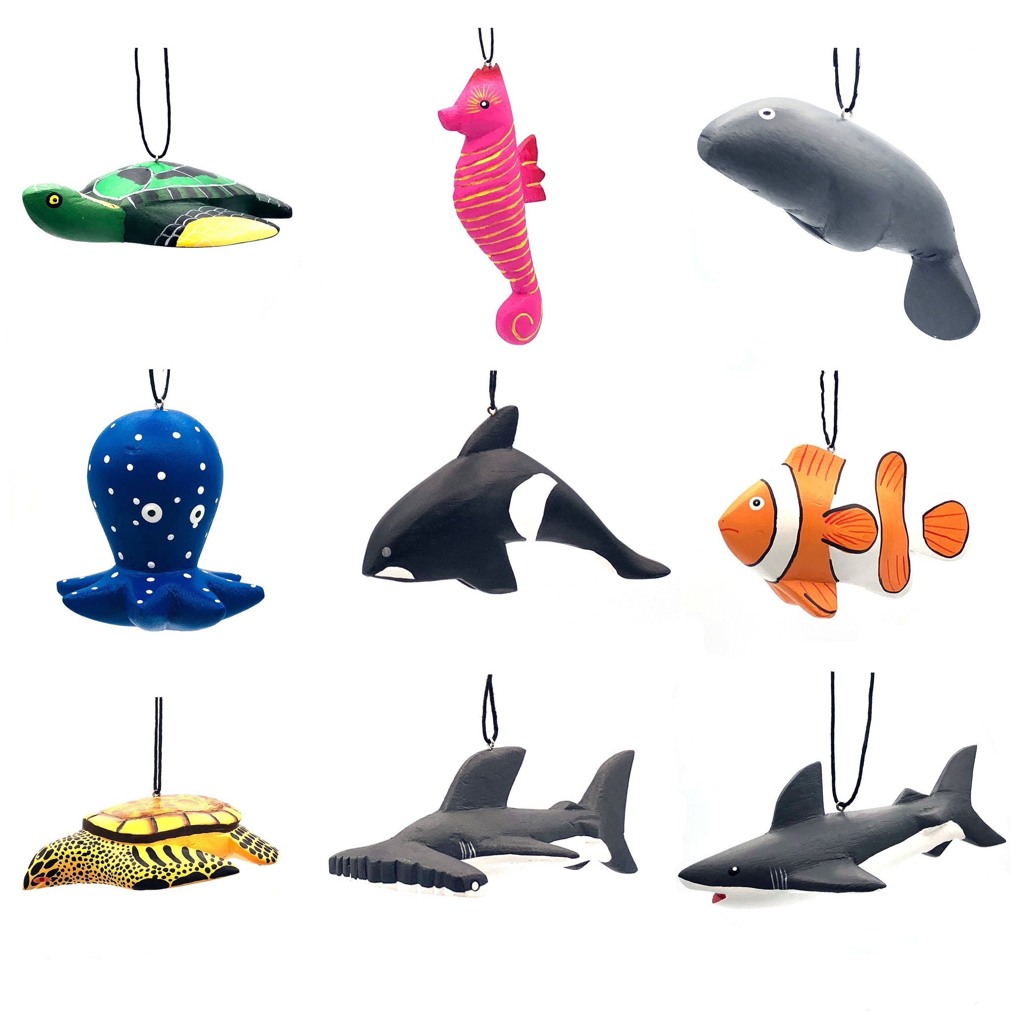 Marine Animal Balsa Ornament Assortment