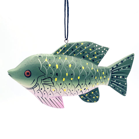 Black Crappie Balsa Ornament