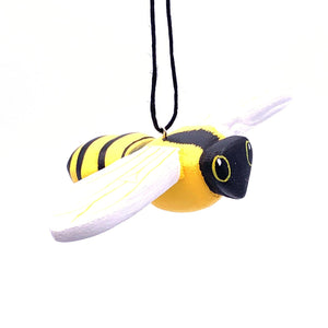 Honeybee Balsa Ornament