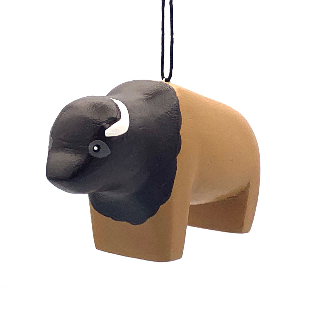 Bison Balsa Ornament