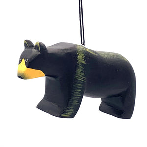 Black Bear Balsa Ornament