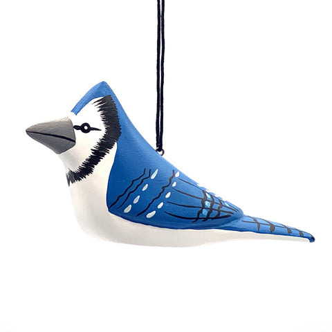 Bluejay Balsa Ornament