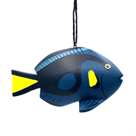 Blue Tang Fish Balsa Ornament