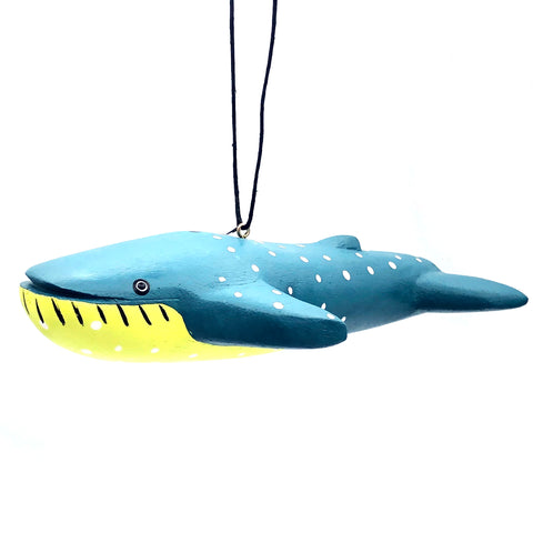 Blue Whale Balsa Ornament