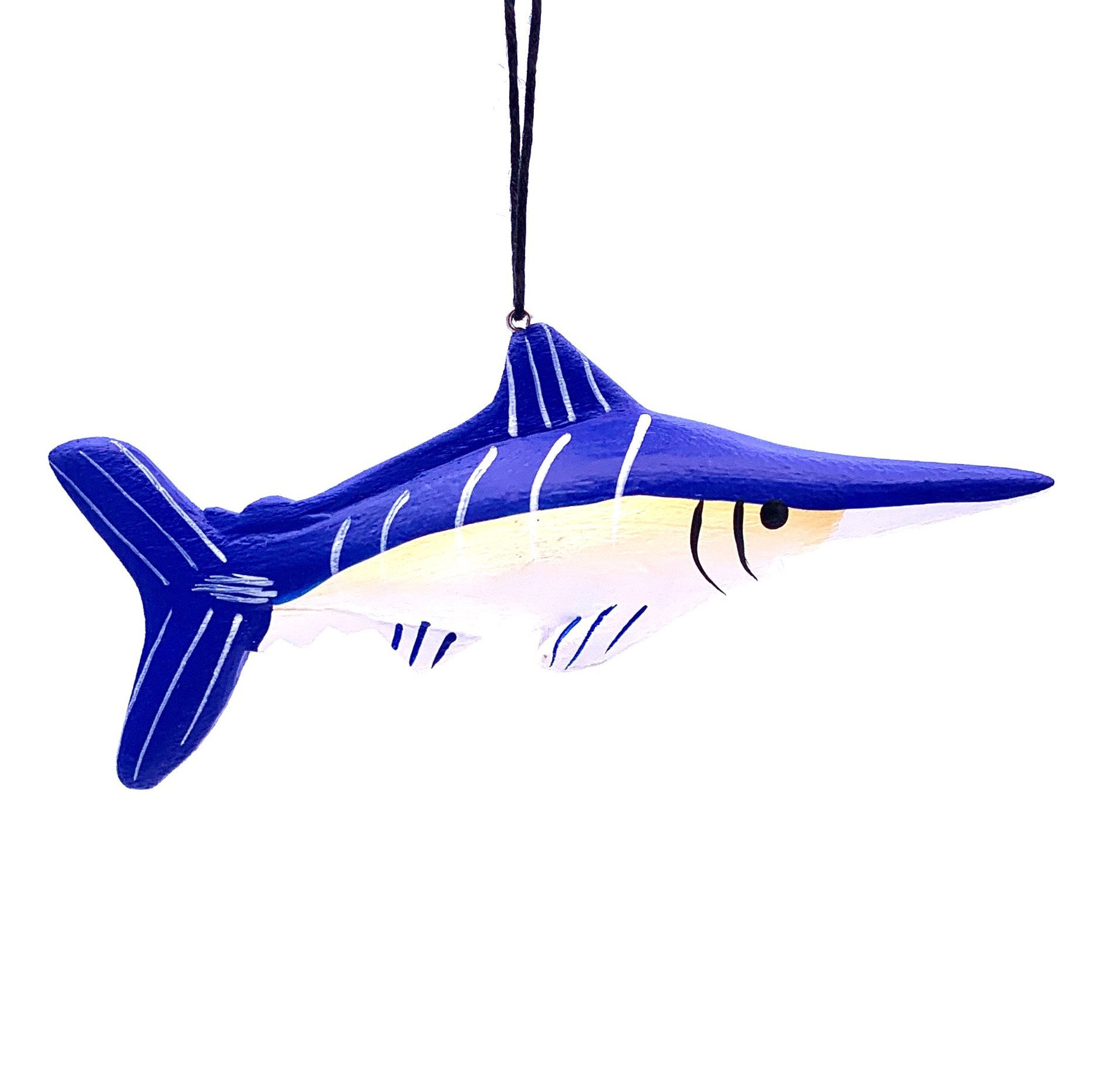 Blue Marlin Balsa Ornament