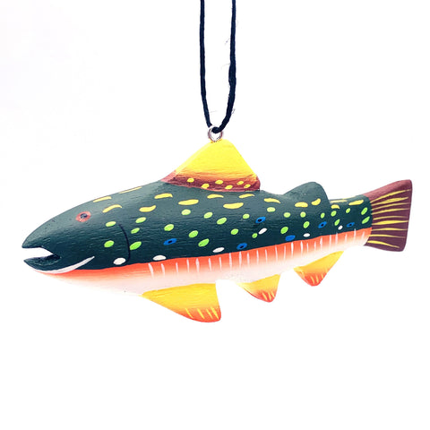 Brook Trout Balsa Ornament