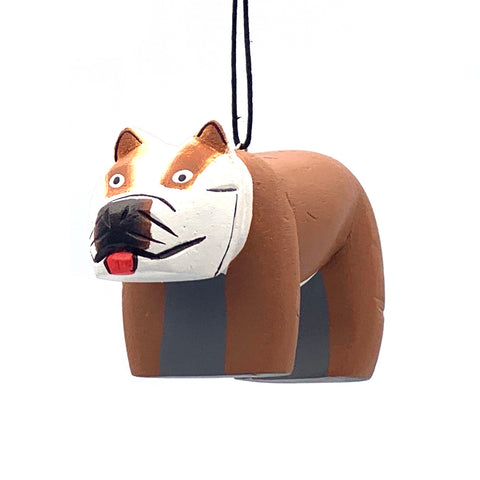 Bulldog Balsa Ornament