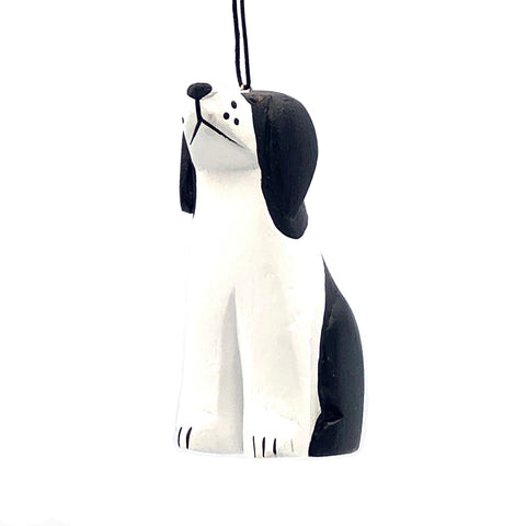 Black & White Dog Balsa Ornament