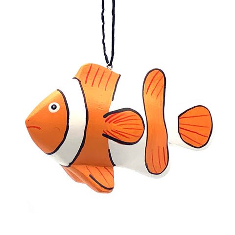 Clownfish Balsa Ornament