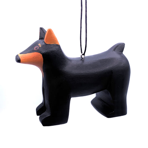 Doberman Balsa Ornament