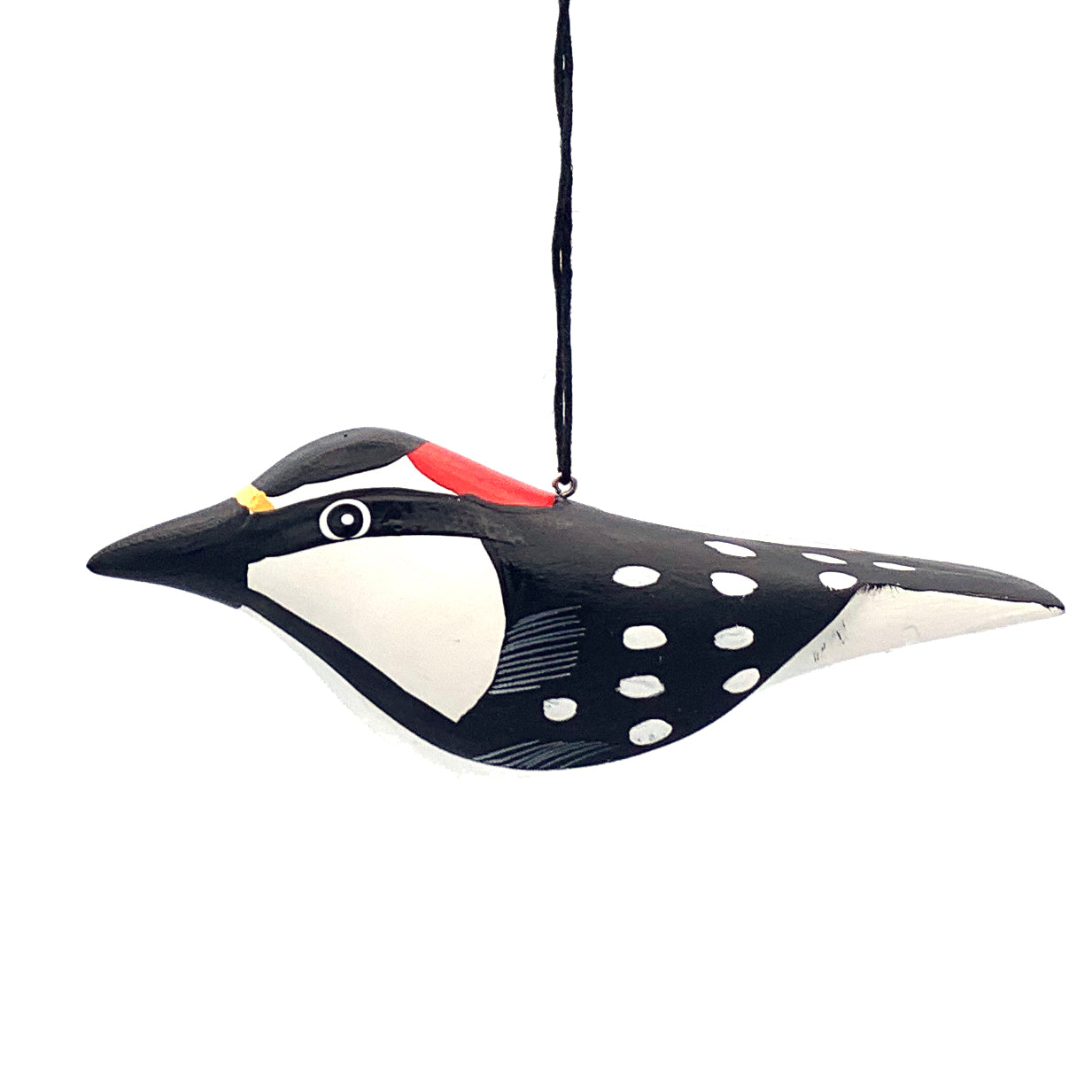 Downy Woodpecker Balsa Ornament
