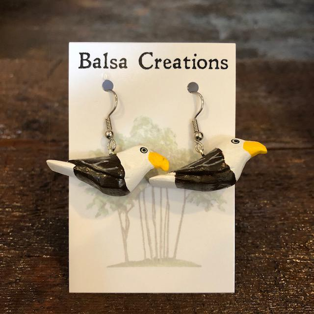 Bald Eagle Balsa Earrings