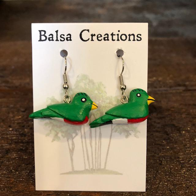 Quetzal Balsa Earrings