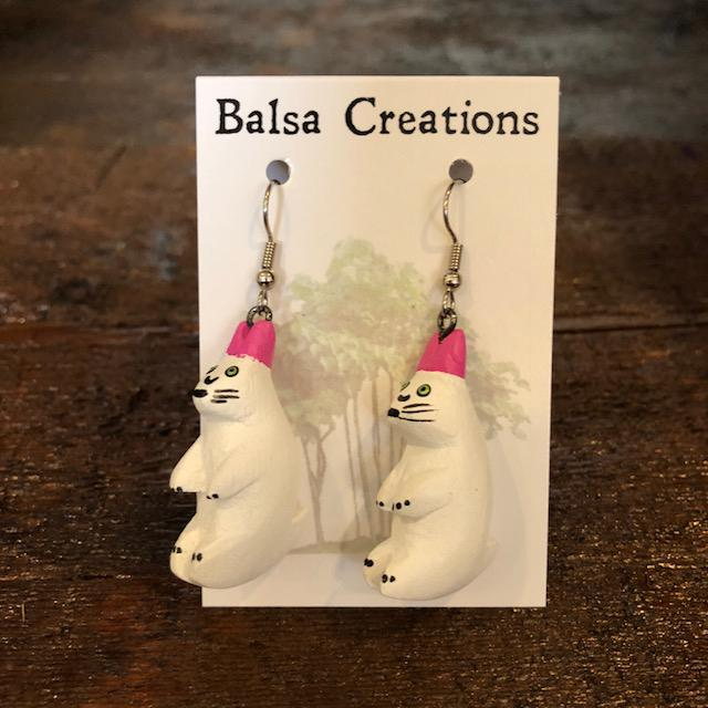 Rabbit Balsa Earrings