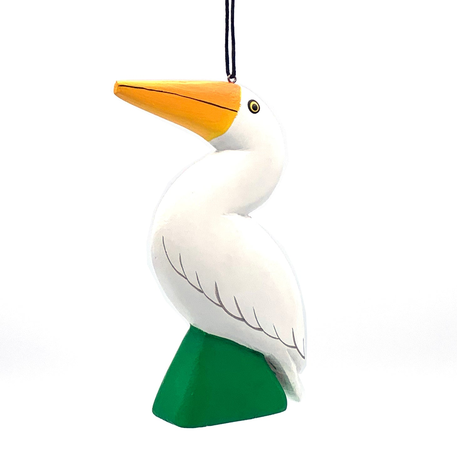 Great Egret Balsa Ornament