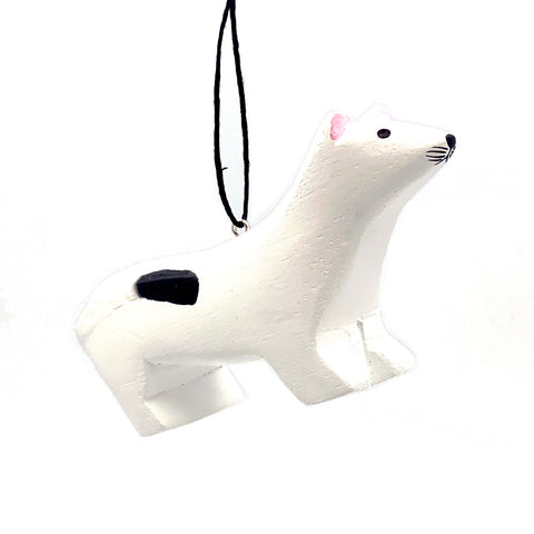 Ermine Balsa Ornament
