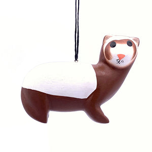 Ferret Balsa Ornament