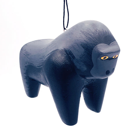 Gorilla Balsa Ornament