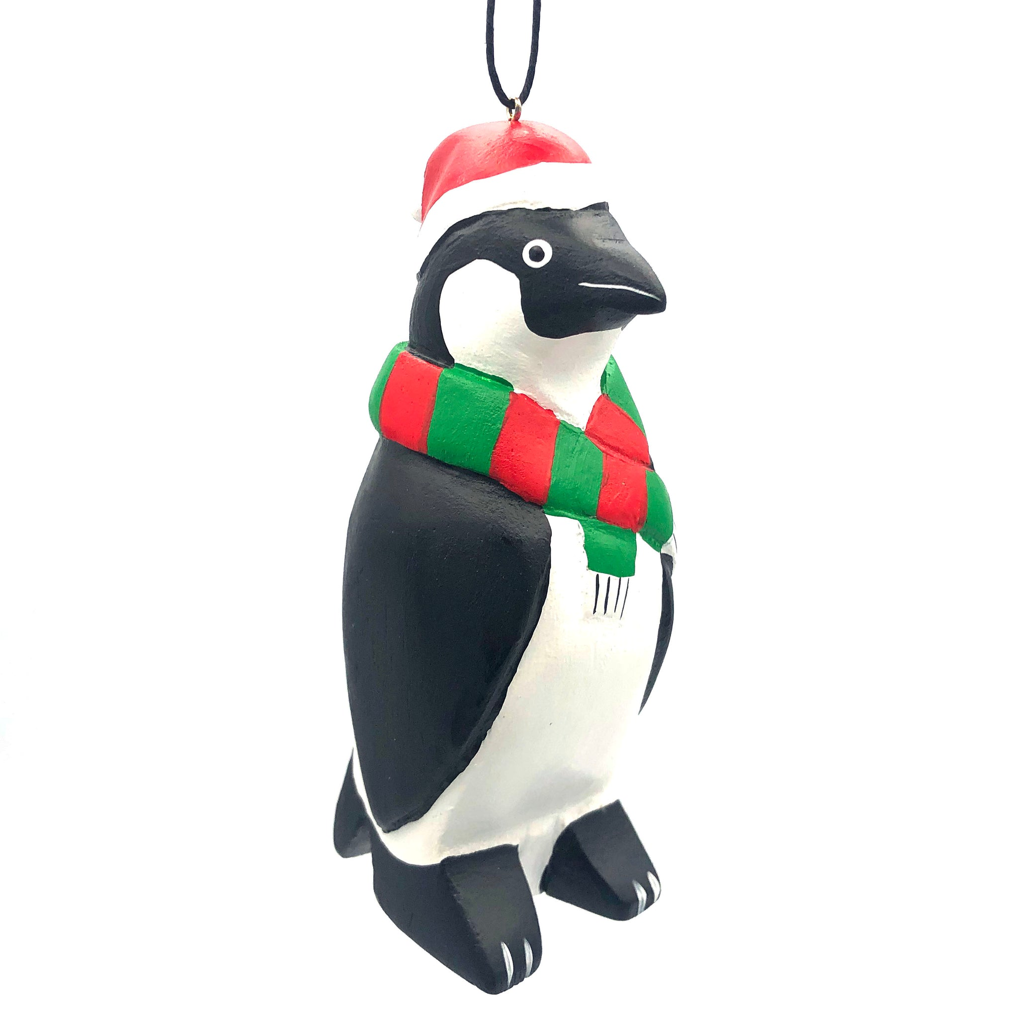 Holiday Penguin Balsa Ornament