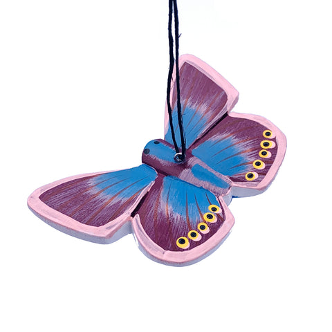 Karner Blue Butterfly Balsa Ornament