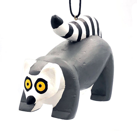 Ring-tailed Lemur Balsa Ornament