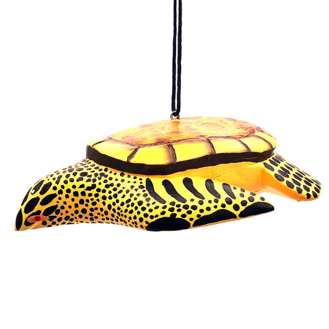 Loggerhead Turtle Balsa Ornament