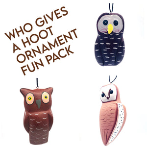 Who Gives a Hoot Ornament Fun Pack