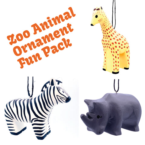 Zoo Animal Ornament Fun Pack