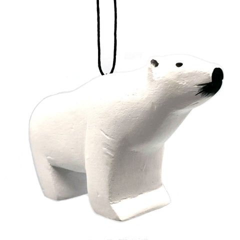 Polar Bear Balsa Ornament