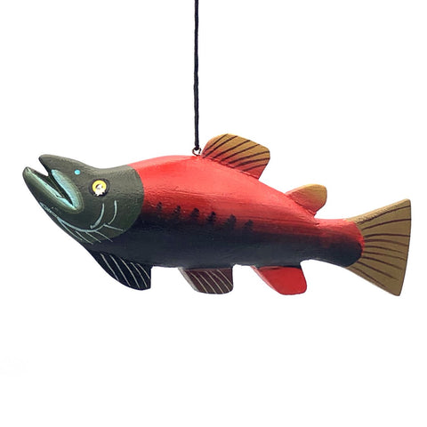 Pacific Salmon Balsa Ornament