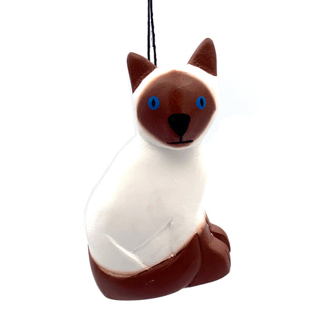 Siamese Cat Balsa Ornament