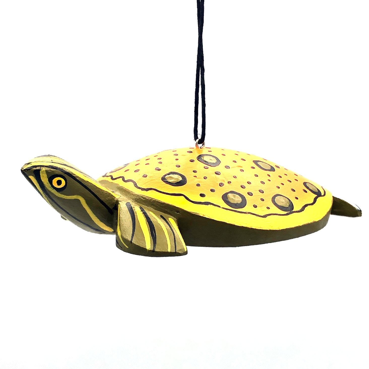Spiny Softshell Turtle Balsa Ornament