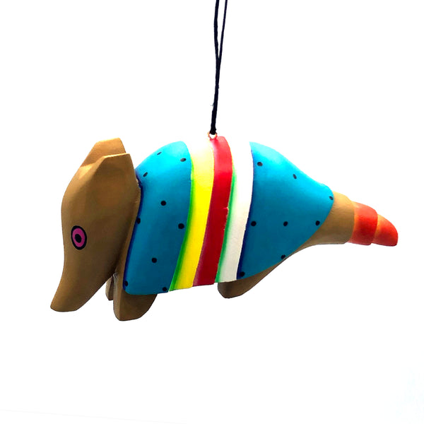 Whimsical Armadillo Balsa Ornament