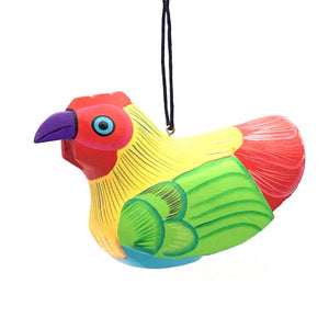 Whimsical Chicken Balsa Ornament