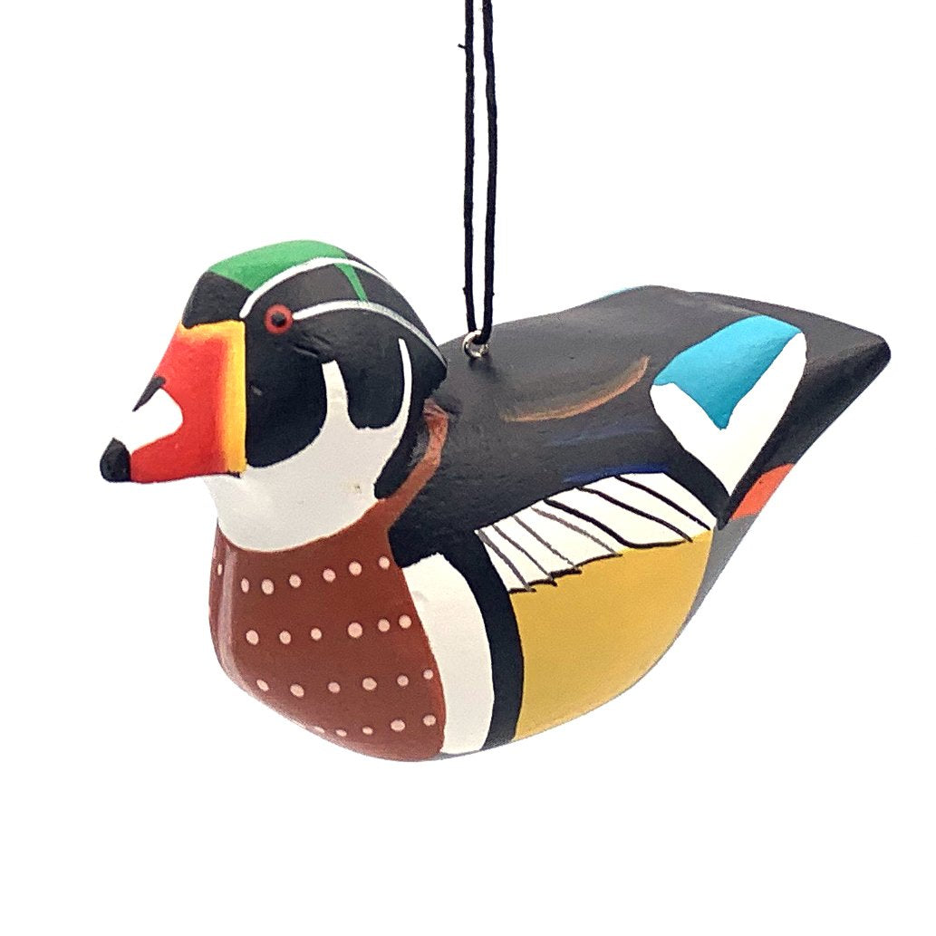 Wood Duck Balsa Ornament