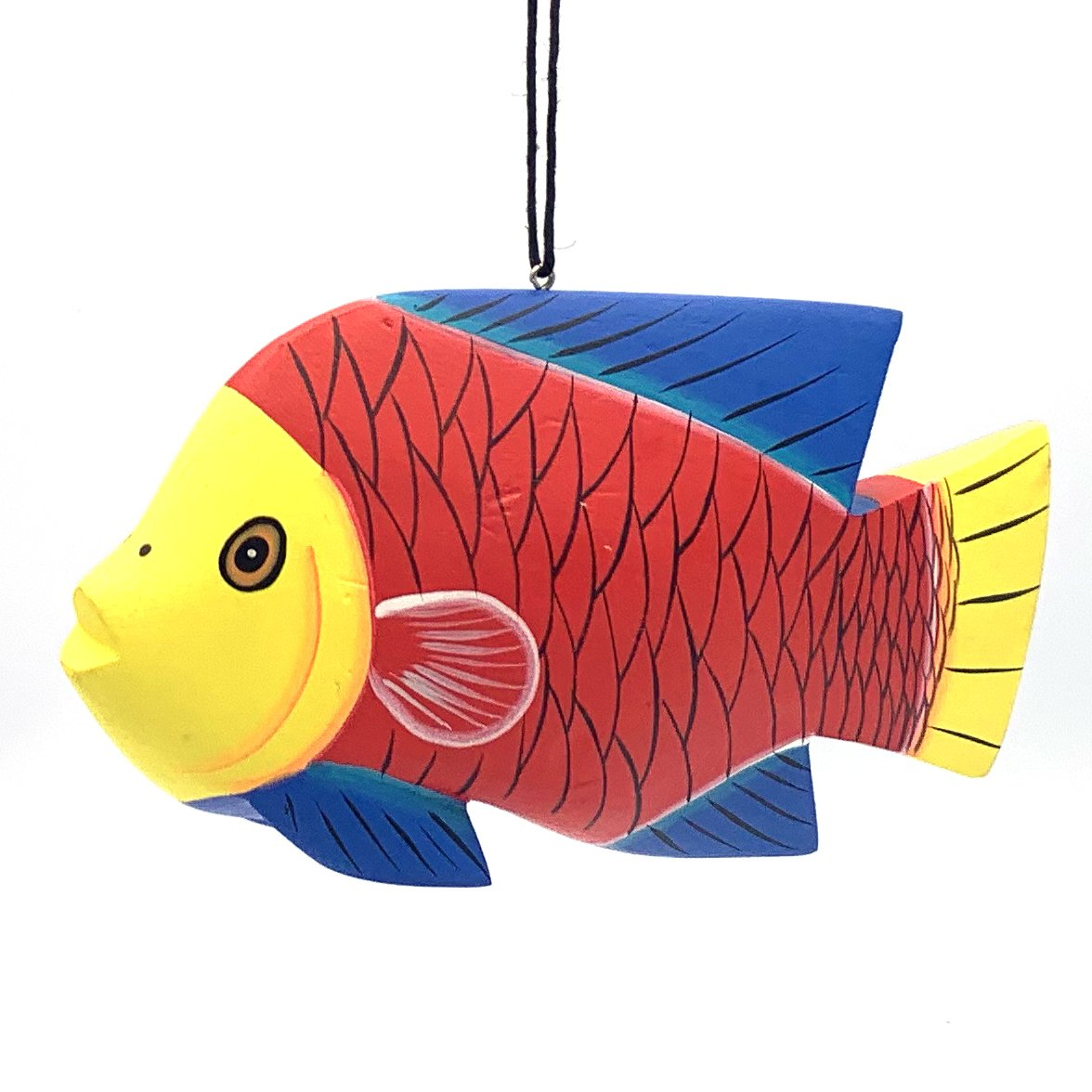 Whimsical Fish Balsa Ornament